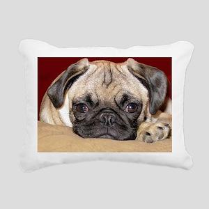 Adorable iCuddle Pug Pup Rectangular Canvas Pillow