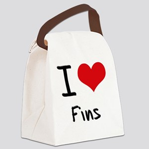 I Love Fins Canvas Lunch Bag