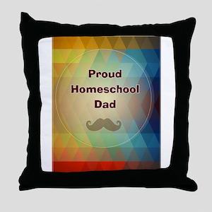 Proud Homeschool Dad Throw Pillow
