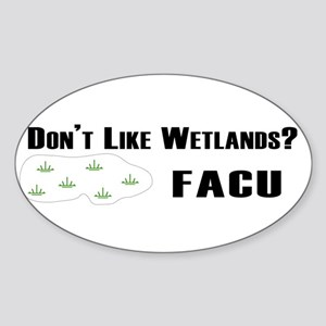 facu bumper sticker white Sticker