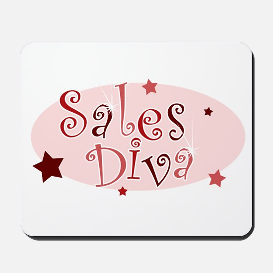 """""""Sales Diva"""" [red] Mousepad"""