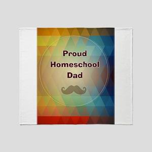 Proud Homeschool Dad Throw Blanket