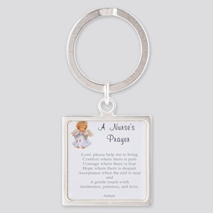 Nurses Prayer Square Keychain
