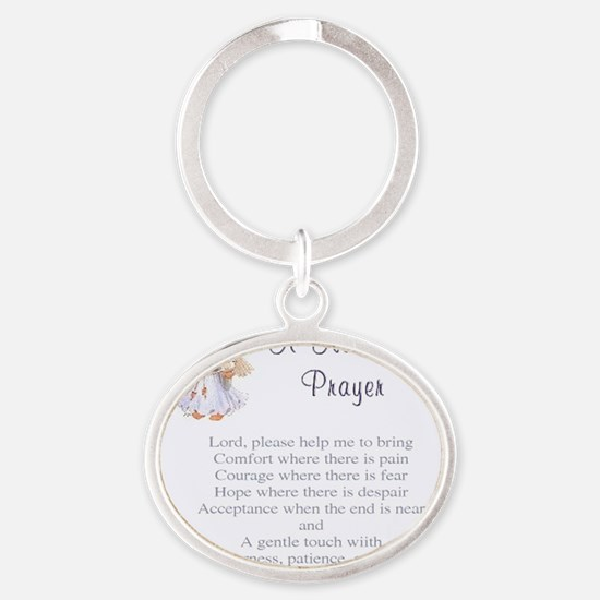 Nurses Prayer Oval Keychain