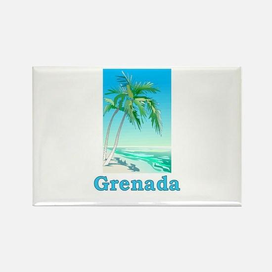Grenada Rectangle Magnet