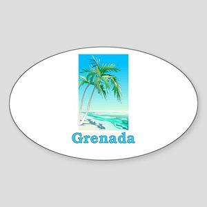 Grenada Oval Sticker