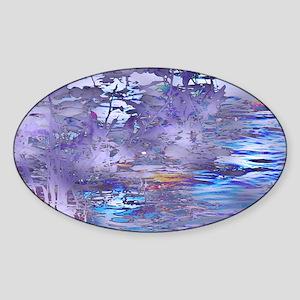 River Fantasy Trip in Purple Sticker (Oval)