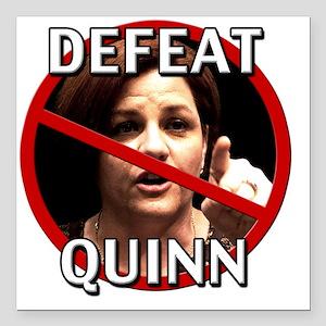"Defeat Christine Quinn Square Car Magnet 3"" x 3"""
