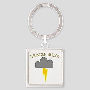 Thunder Buddy Square Keychain