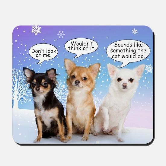 Funny Chihuahua Christmas Mousepad