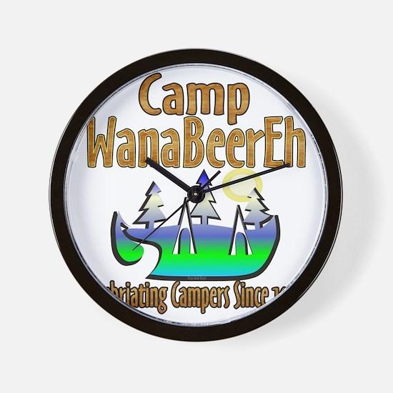 Camp WanaBeerEh Wall Clock