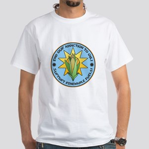 Support Renewable Fuels White T-Shirt