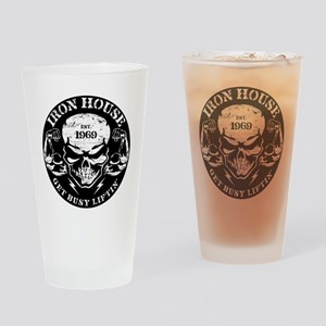 Iron House Muscle Skull Drinking Glass