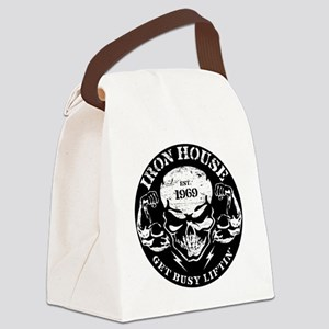 Iron House Muscle Skull Canvas Lunch Bag