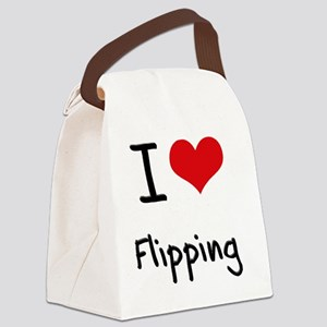 I Love Flipping Canvas Lunch Bag