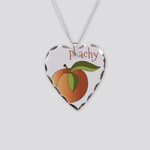 Peachy Necklace Heart Charm