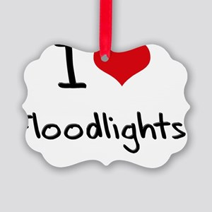 I Love Floodlights Picture Ornament
