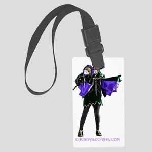Carnivale Candy Purple Jester Large Luggage Tag