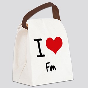 I Love Fm Canvas Lunch Bag