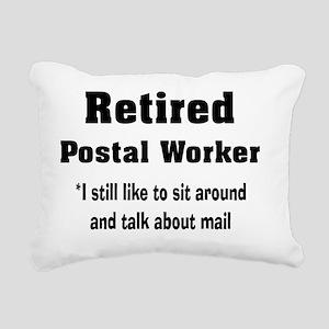 retired postal worker Ve Rectangular Canvas Pillow