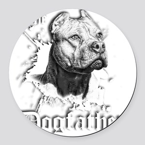 The Pit Bull Dog Father Round Car Magnet