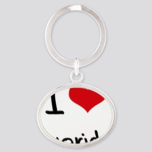 I Love Fluoride Oval Keychain