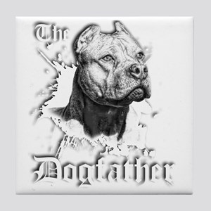 The Pit Bull Dog Father Tile Coaster