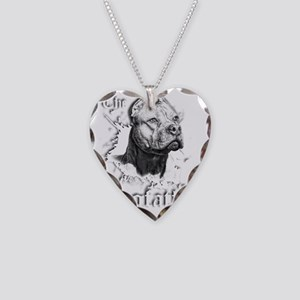 The Pit Bull Dog Father Necklace Heart Charm