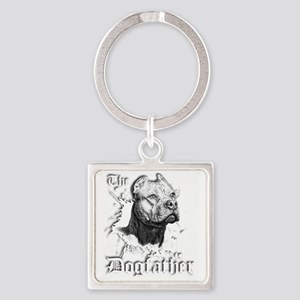 The Pit Bull Dog Father Square Keychain