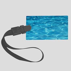 Blue Pool Large Luggage Tag