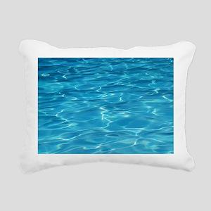 Blue Pool Rectangular Canvas Pillow