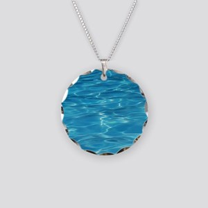 Blue Pool Necklace Circle Charm
