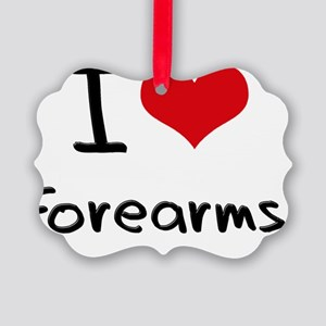 I Love Forearms Picture Ornament
