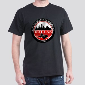 Dallas logo black and red Dark T-Shirt