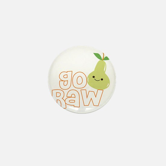 Go Raw Mini Button