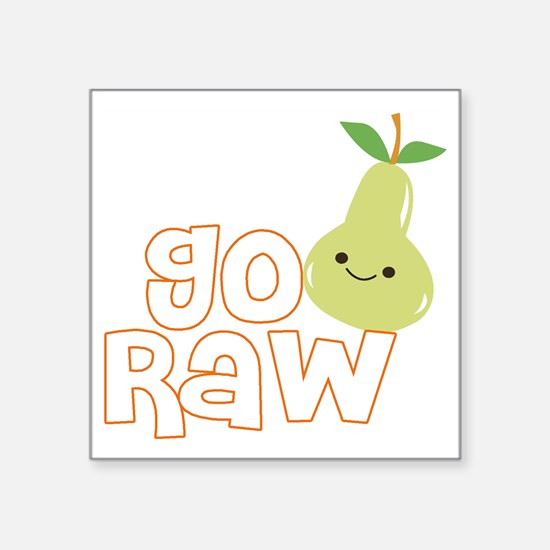 "Go Raw Square Sticker 3"" x 3"""