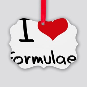 I Love Formulae Picture Ornament