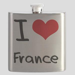 I Love France Flask