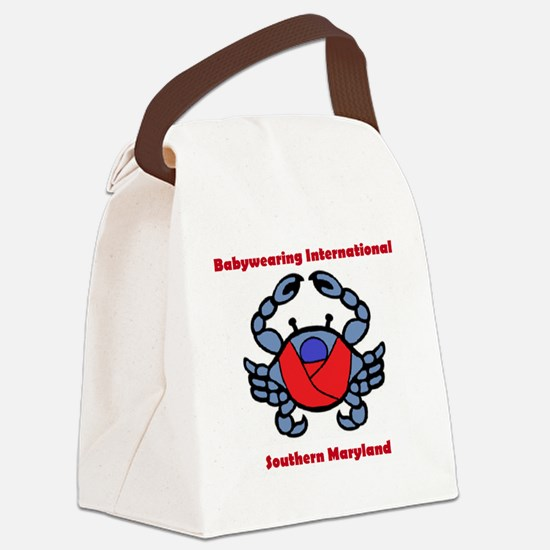BWI Southern Maryland crab logo Canvas Lunch Bag