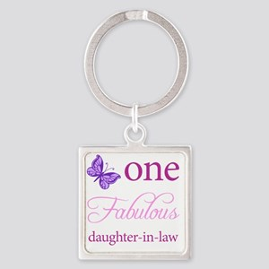 One Fabulous Daughter-In-Law Square Keychain