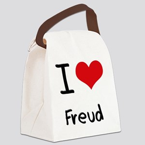 I Love Freud Canvas Lunch Bag