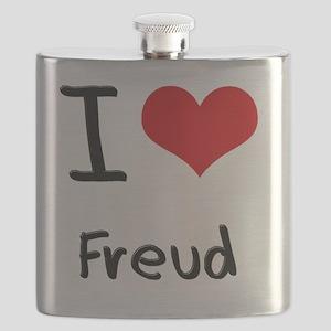 I Love Freud Flask