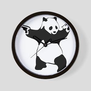 Panda guns Wall Clock