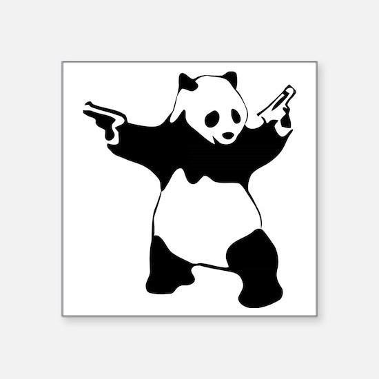 "Panda guns Square Sticker 3"" x 3"""