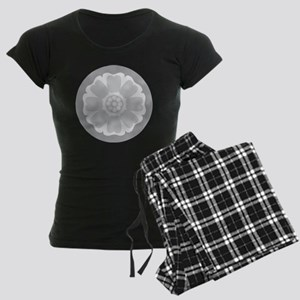 White Lotus Tile Women's Dark Pajamas