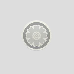 White Lotus Tile Mini Button