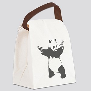 Panda guns Canvas Lunch Bag