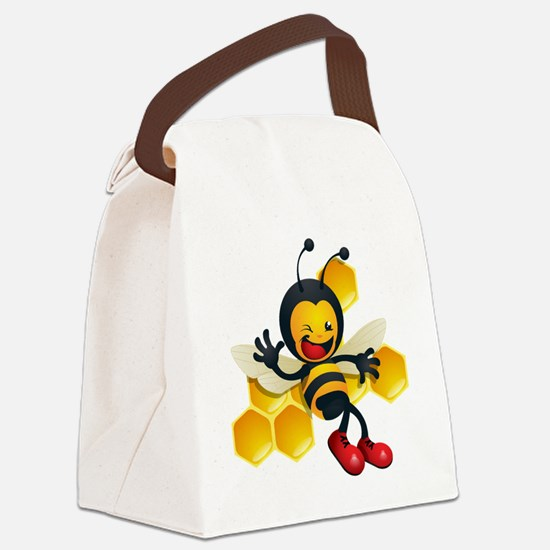 cute baby honey bumble bee bug Canvas Lunch Bag