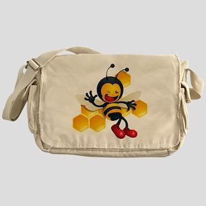 cute baby honey bumble bee bug Messenger Bag