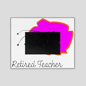 retired teacher fuschia t-shirts Picture Frame